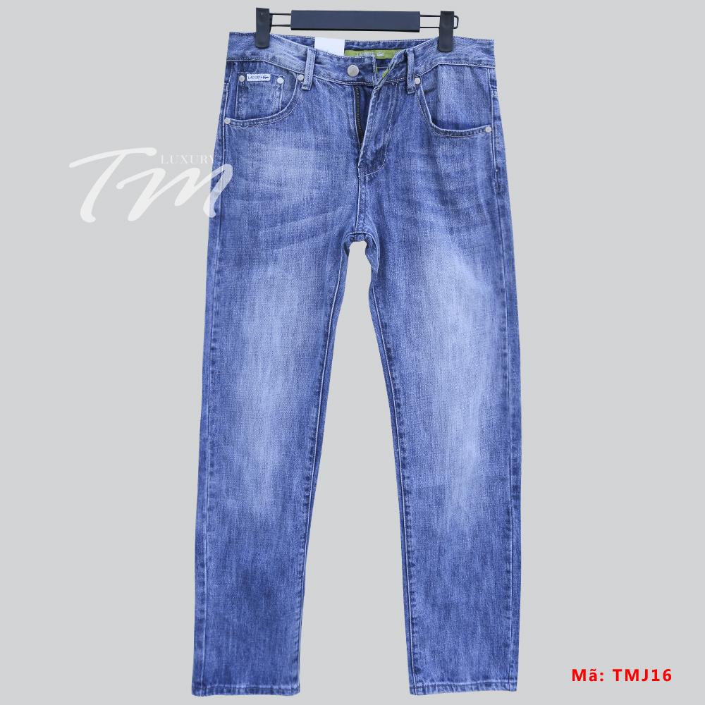 Ảnh quần jean nam ống đứng Lacoste TMJ17 hình lớn