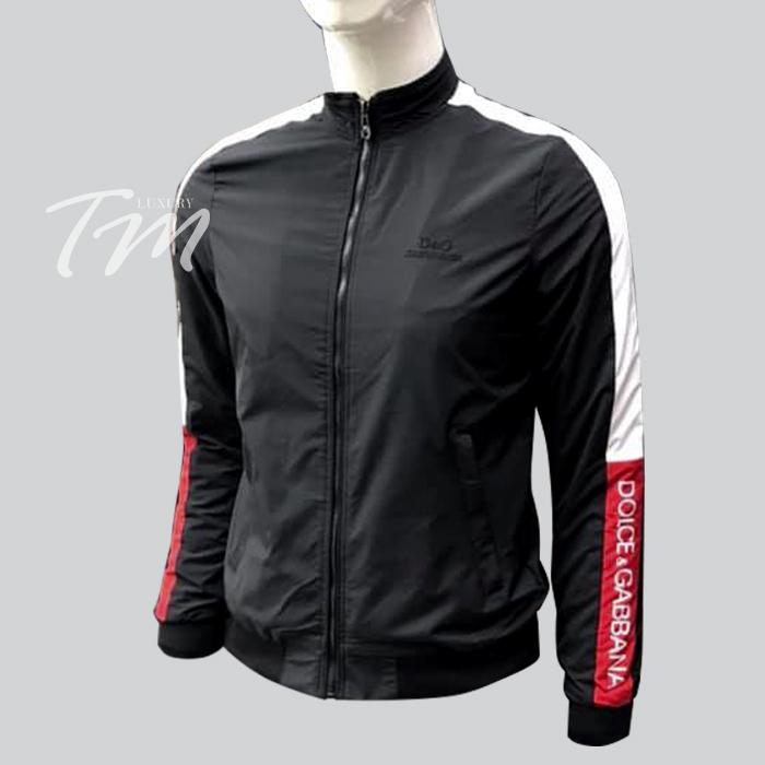 Áo khoác gió nam mỏng thể thao D&GDolce & Gabbana màu đen
