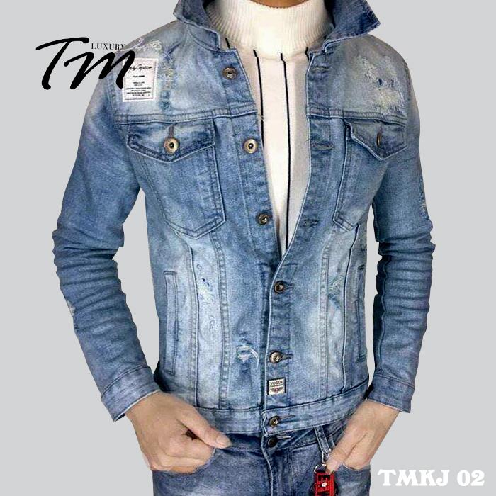 Áo khoác jean nam Hàn Quốc TMKJ01 siêu hot tháng 12