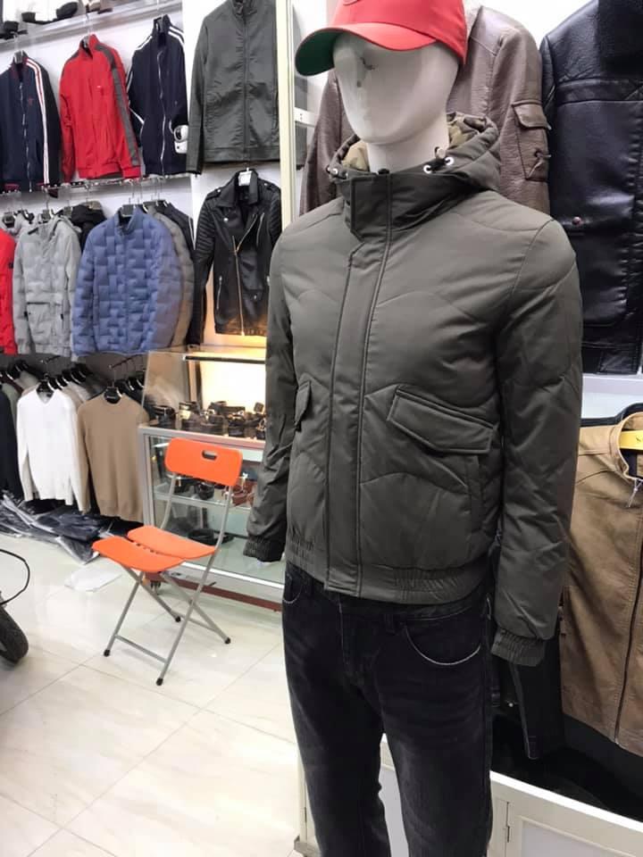 Áo phao nam lông vũ mùa đông TMAK07 xám tro