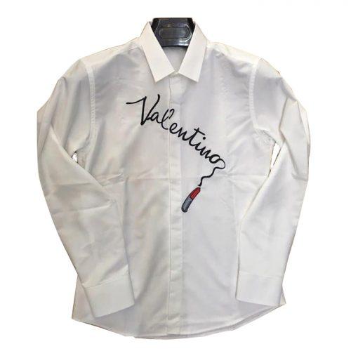 Áo sơ mi nam trắng hàng hiệu Valentino TMASM12