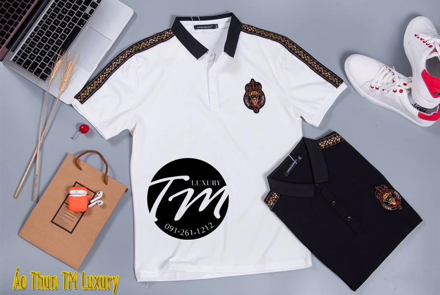 Áo thun nam có cổ hàng super Fake đẹp TM Luxury