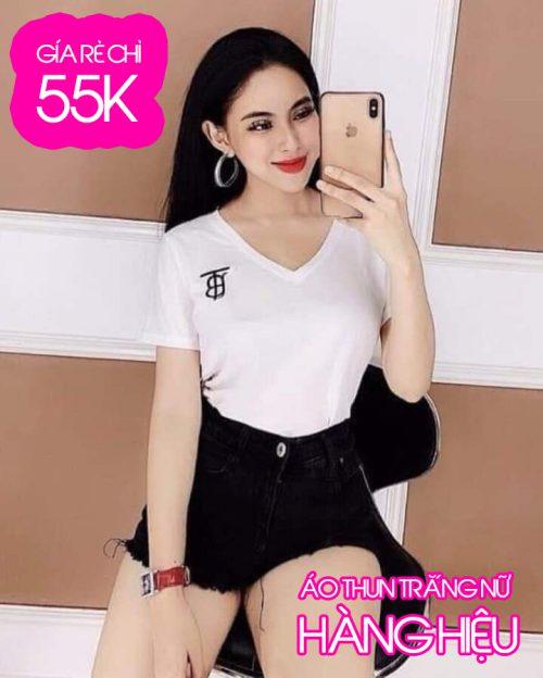 Chi tiết hình ảnh áo thun nữ hàng hiệu giá rẻ 55k