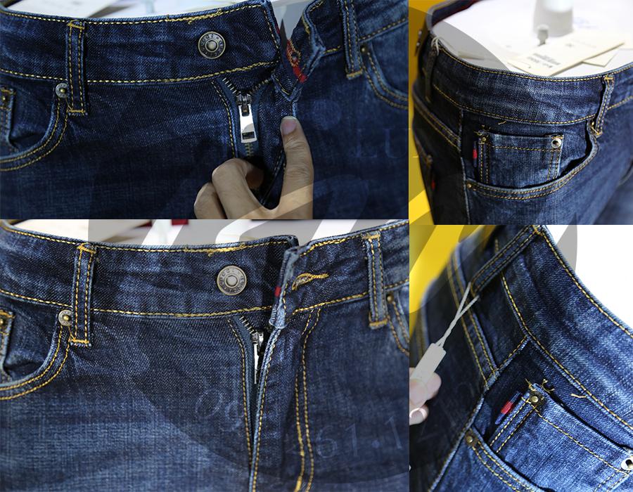 Chi tiết quần jean nam Gucci xanh
