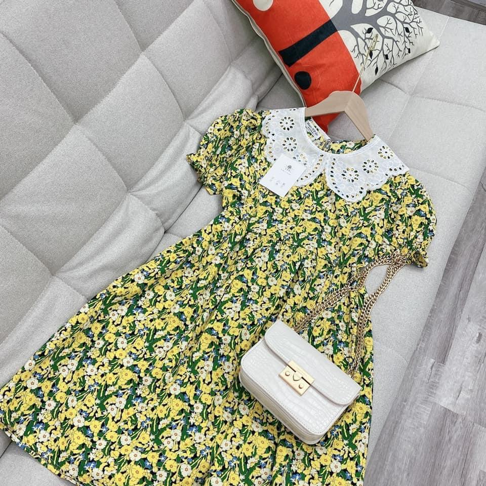 Chi tiết váy bầu hoa nhí siêu xinh mùa hè