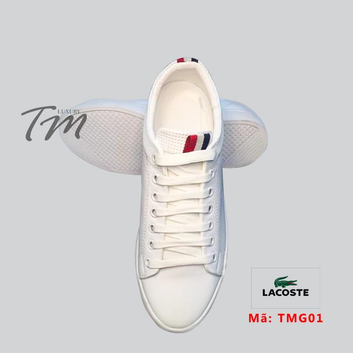 Giày thể thao kiểu dáng đẹp TMS02 Lacoste trắng