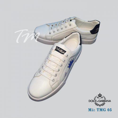 Giày thể thao trắng đen TMS03 hiệu D&G