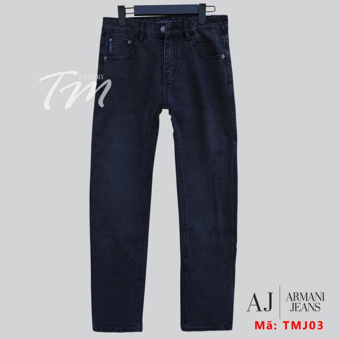 Quần bò đen nam AJ Armani TMJ03 thời trang