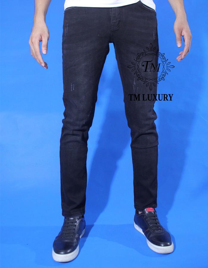 Chân dung quần jean đen Gucci đẹp TMJ12 Gucci