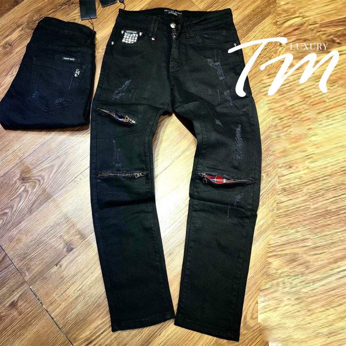 Quần jean nam đen D&G đẹp TMJ28