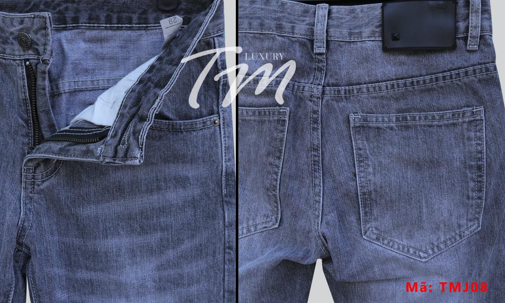Quần jean nam đẹp năm nay 2018 hiệu D&G chụp chi tiết gần