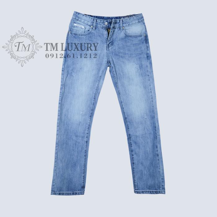 Quần jean nam hiệu Gucci xanh bạc