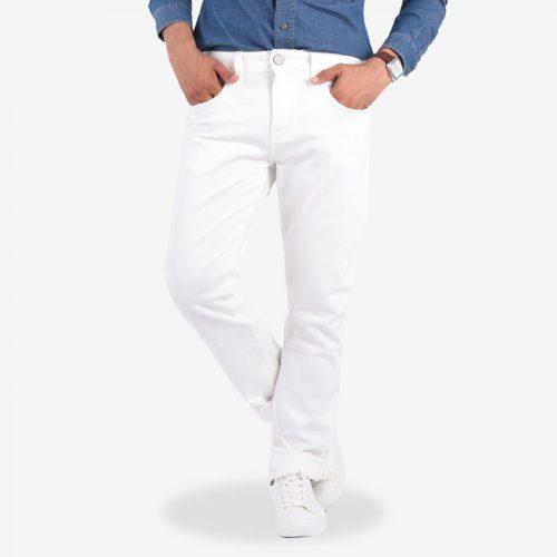 Quần jean nam màu trắng TMJ33