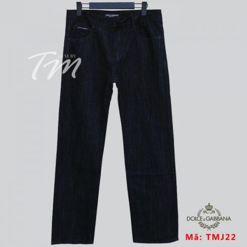 Quần jean nam phối áo sơ mi ví dụ quần D&G đen suông
