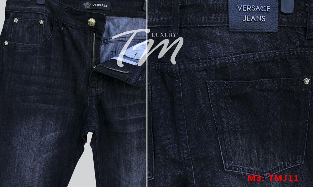 Quần jean nam versace mặt trước và sau chi tiết