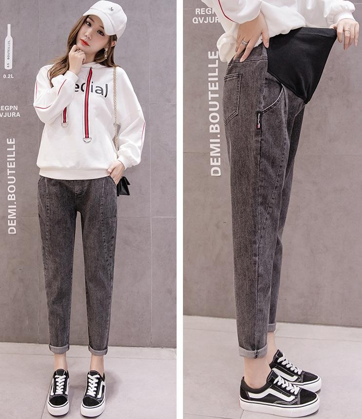 Mix quần jean ống rộng Baggy cho mẹ bầu thời trang