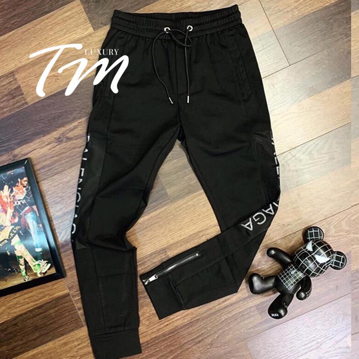 Quần jogger thun nam Baleciaga đen TMJG18